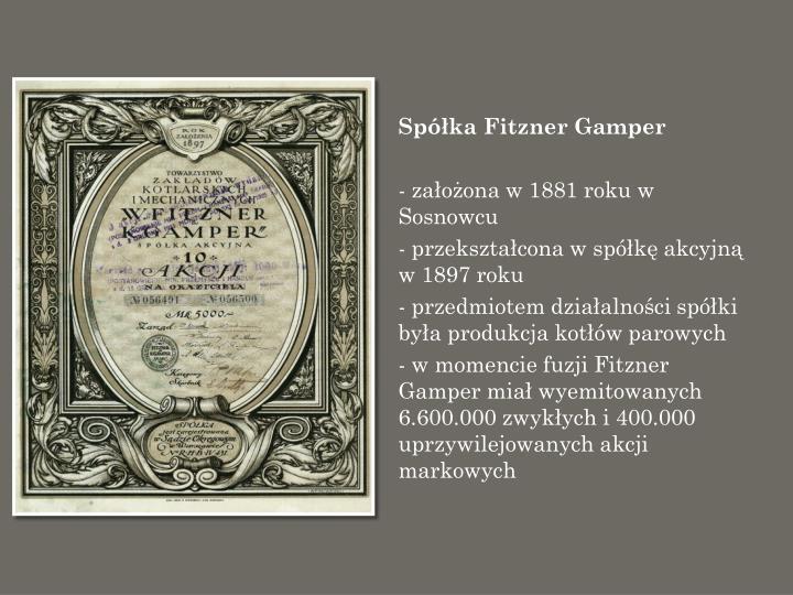 Spółka Fitzner Gamper