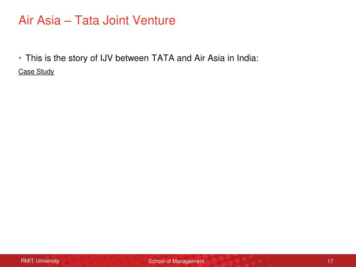 Air Asia – Tata Joint Venture