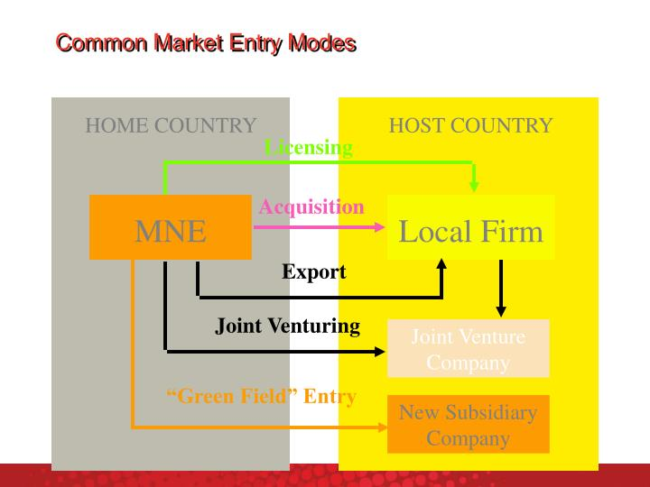 Common Market Entry Modes