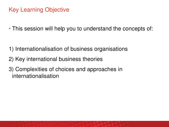 Key learning objective