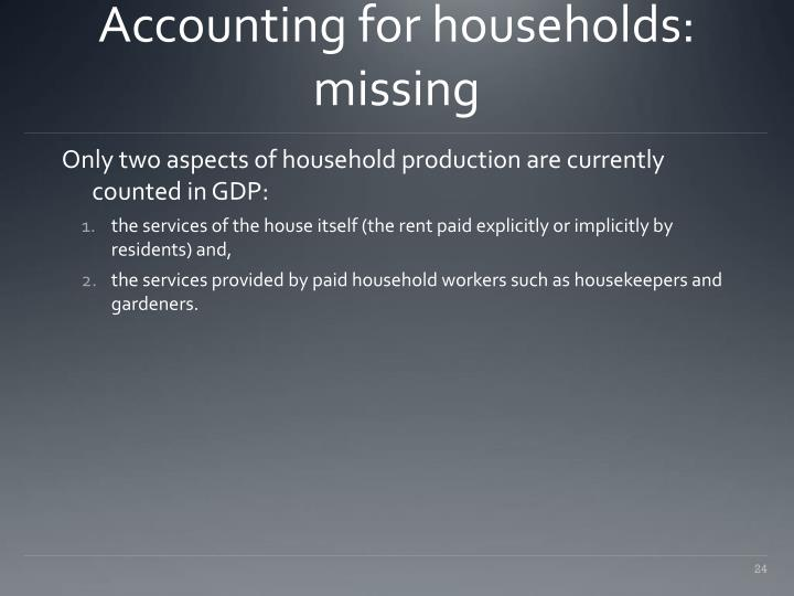 Accounting for households: missing