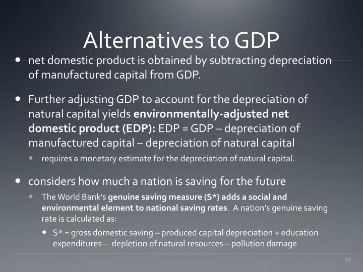 Alternatives to GDP