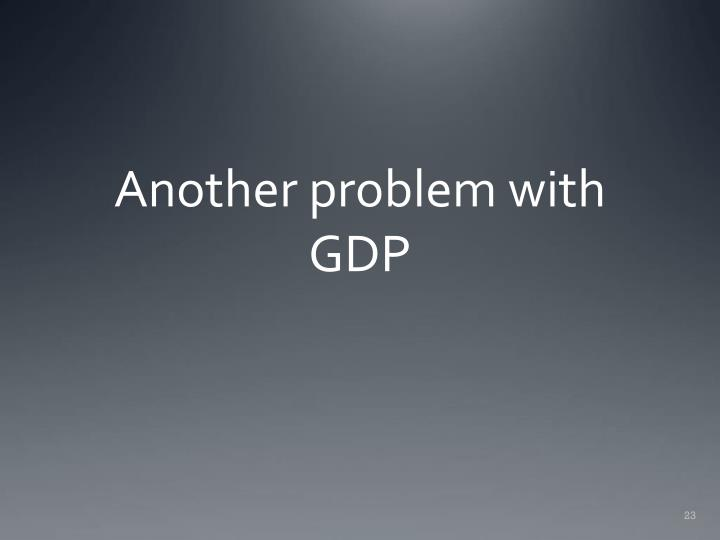 Another problem with GDP