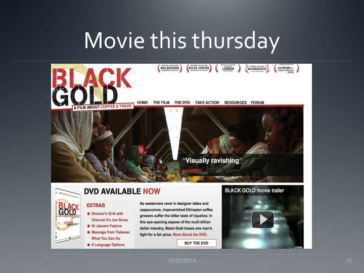 Movie this thursday