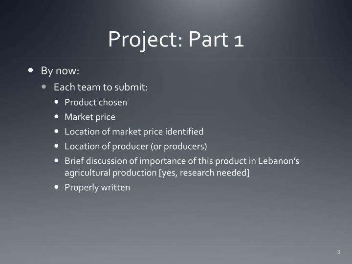 Project: Part 1