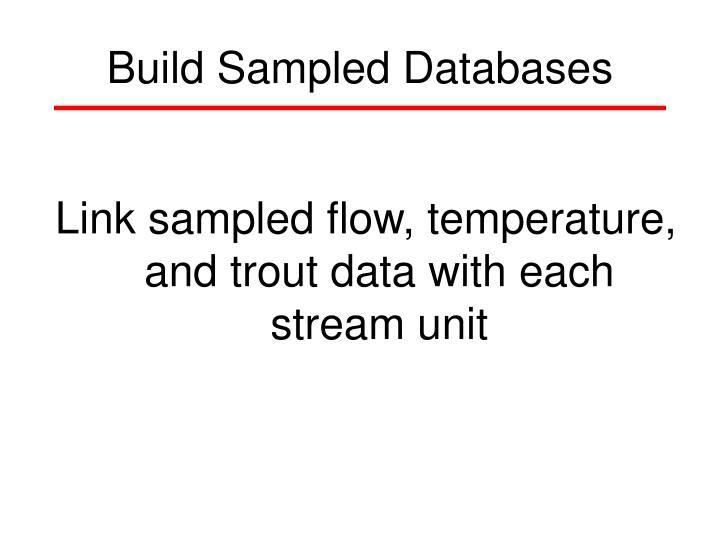 Build Sampled Databases