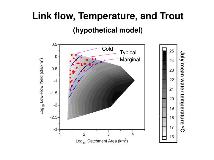 Link flow, Temperature, and Trout