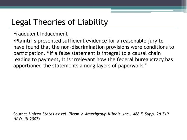 Legal Theories of Liability