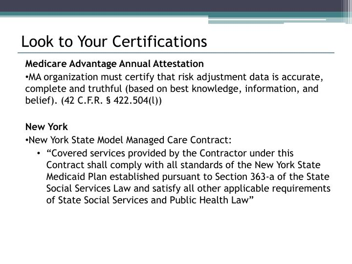 Look to Your Certifications