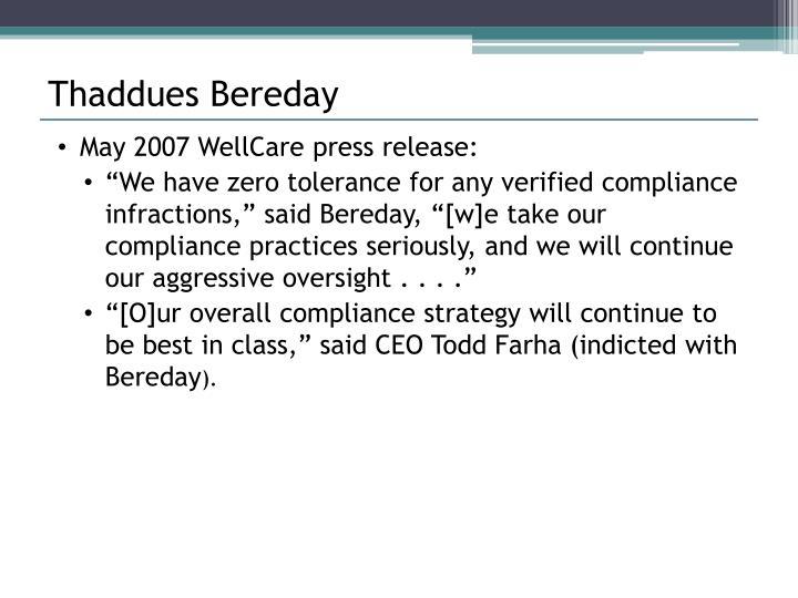 Thaddues Bereday