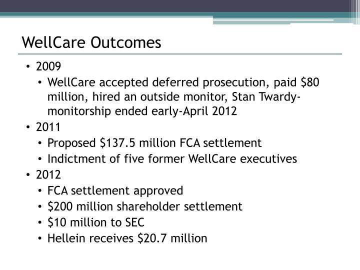WellCare Outcomes