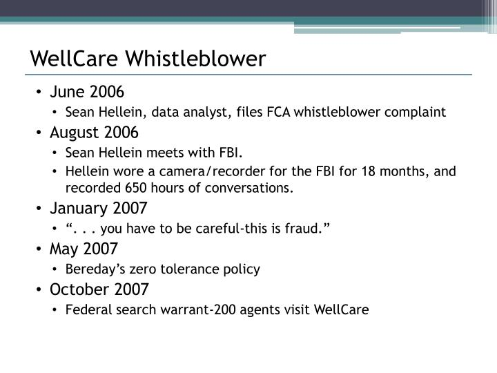 WellCare Whistleblower