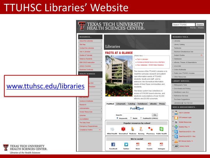 TTUHSC Libraries' Website