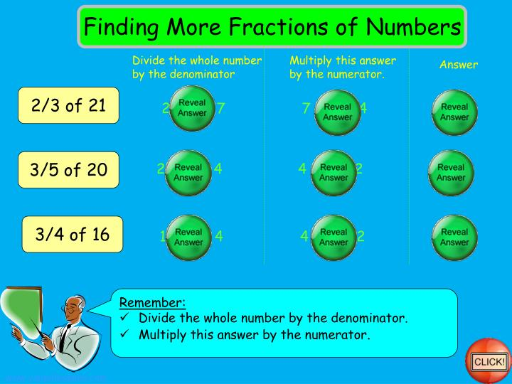 Finding More Fractions of Numbers