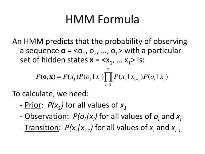 HMM Formula