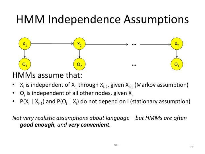 HMM Independence Assumptions
