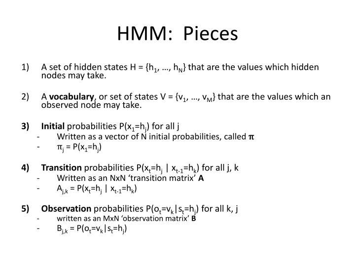 HMM:  Pieces