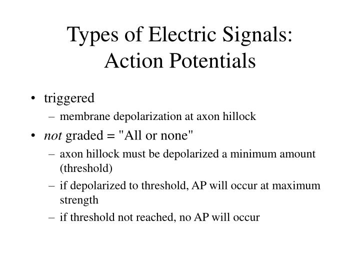 Types of Electric Signals: