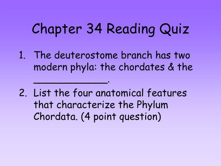 Chapter 34 reading quiz
