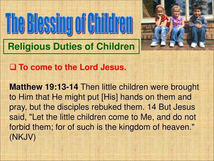 The Blessing of Children
