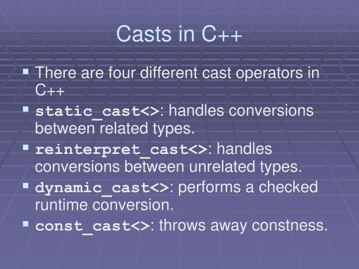 Casts in C++