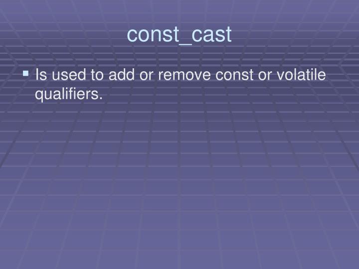 const_cast