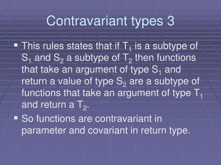 Contravariant types 3