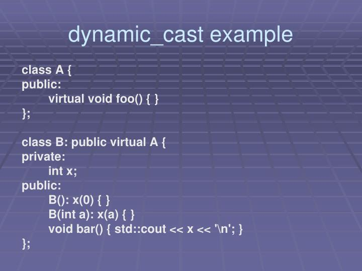 dynamic_cast example
