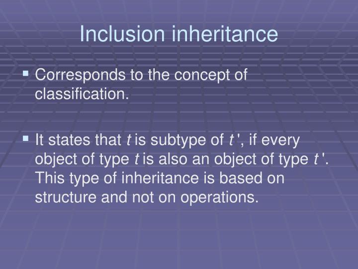 Inclusion inheritance