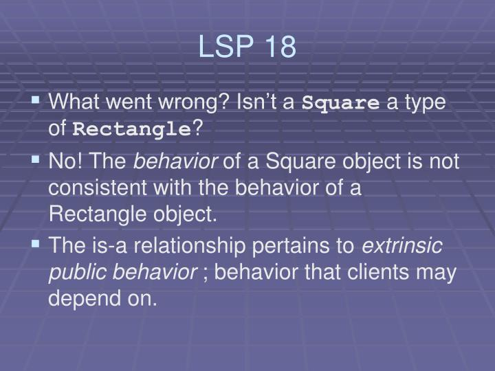 LSP 18