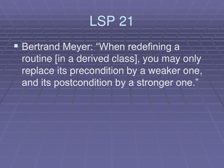 LSP 21