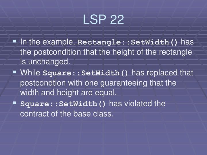 LSP 22