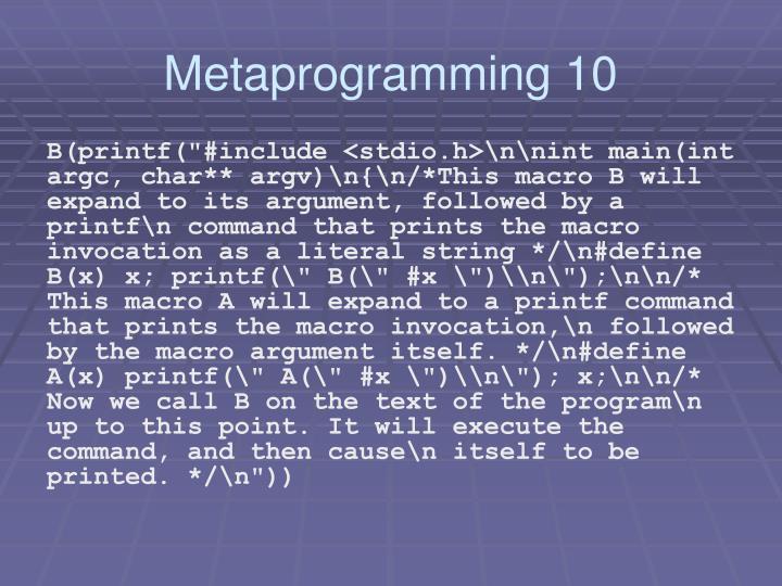 Metaprogramming 10