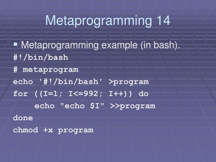 Metaprogramming 14