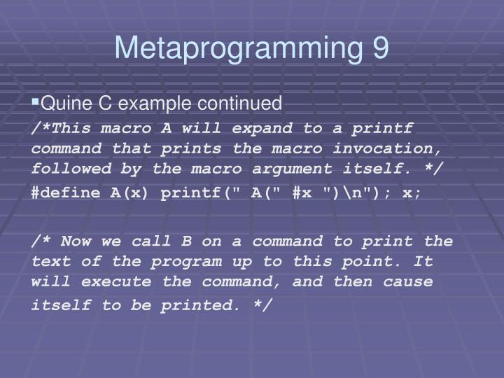 Metaprogramming 9