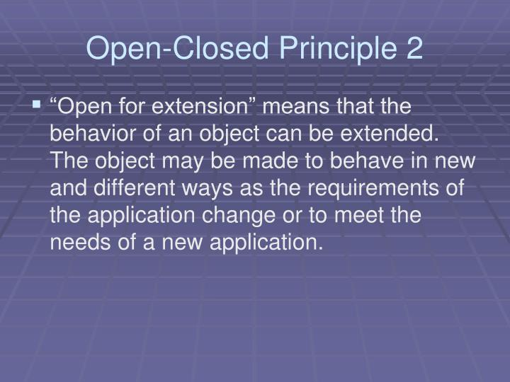 Open-Closed Principle 2