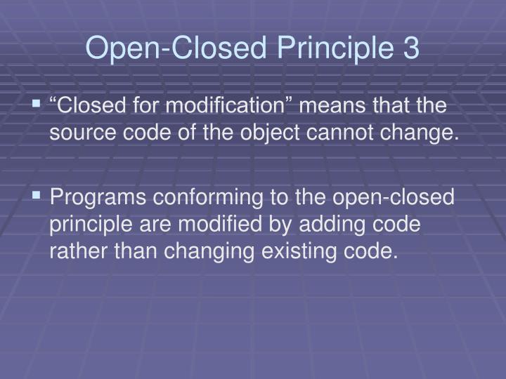 Open-Closed Principle 3