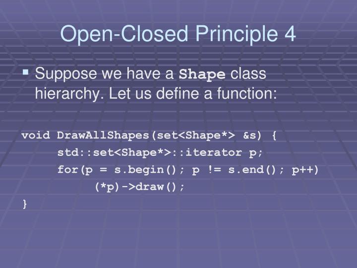 Open-Closed Principle 4