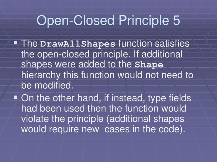 Open-Closed Principle 5