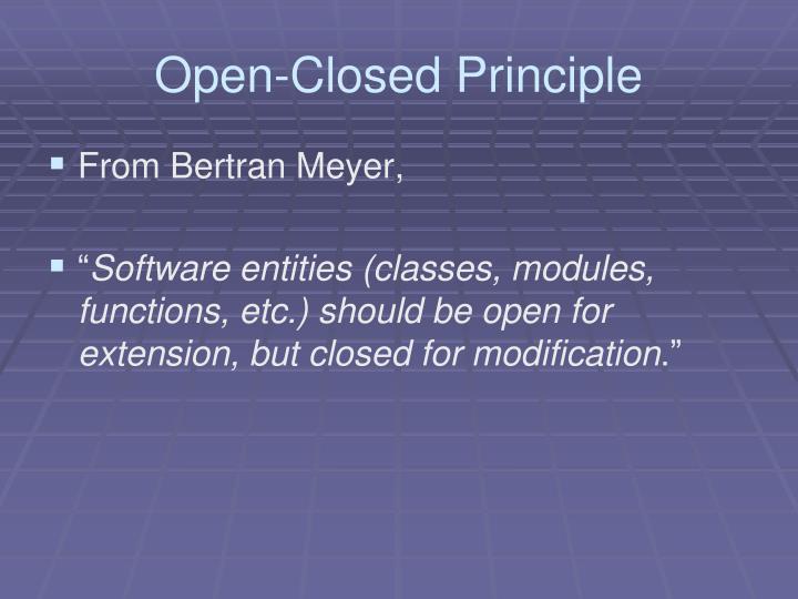 Open-Closed Principle