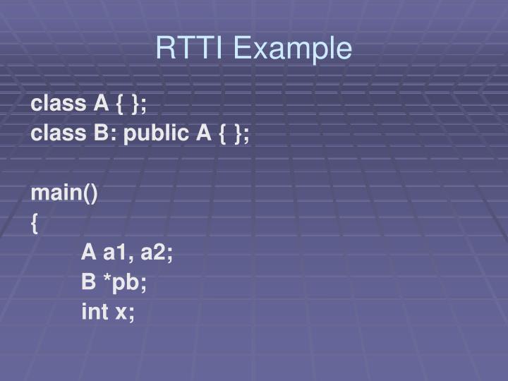 RTTI Example