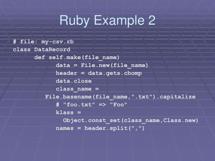 Ruby Example 2