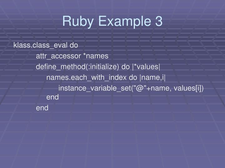 Ruby Example 3