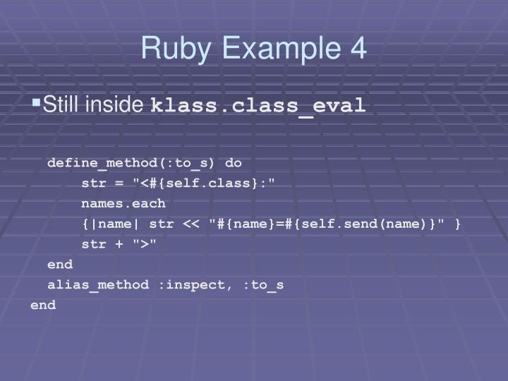 Ruby Example 4