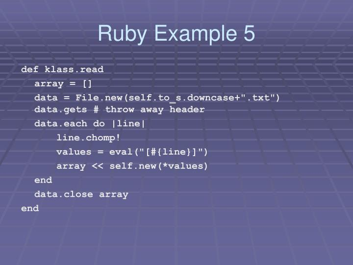 Ruby Example 5