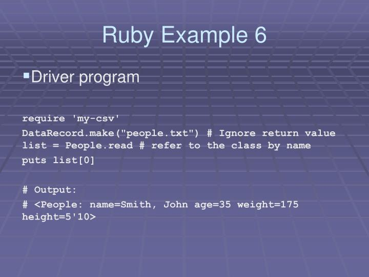 Ruby Example 6