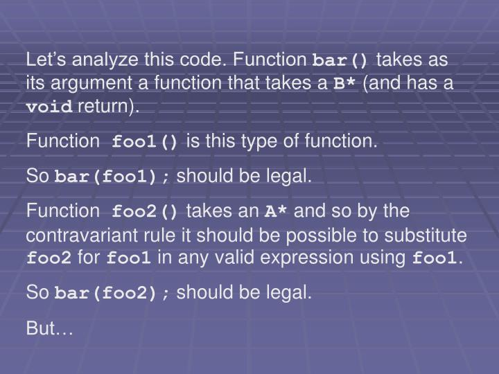 Let's analyze this code. Function