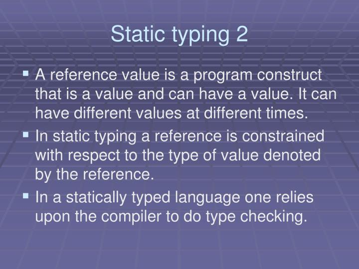 Static typing 2