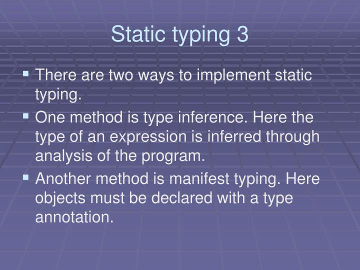 Static typing 3