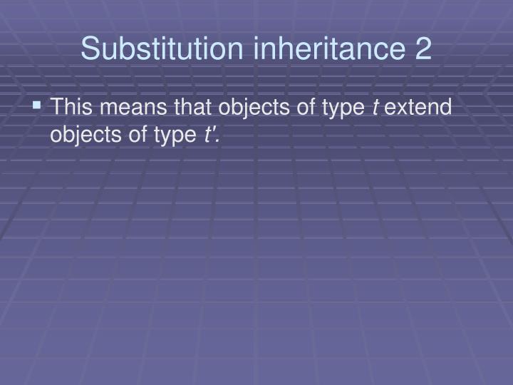 Substitution inheritance 2
